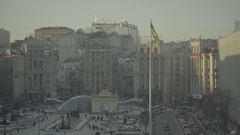 "The Independence Square. ""Maidan"". Kiev. Ukraine Stock Footage"
