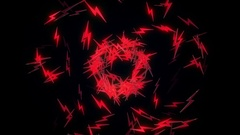 Zap (Thunder) Particles VJ Loop Stock Footage