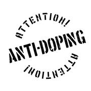 Anti-Doping rubber stamp Stock Illustration