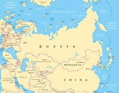 Eurasia political map Stock Illustration
