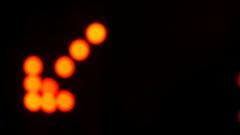 Defocused Signal of light arrow Stock Footage