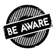 Be Aware rubber stamp Stock Illustration
