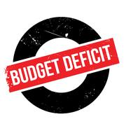 Budget Deficit rubber stamp Stock Illustration