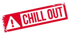 Chill Out rubber stamp Stock Illustration
