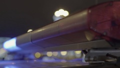 Close-up of a working police flashers Stock Footage