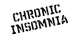 Chronic Insomnia rubber stamp Piirros