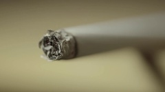 The cigarette is ignited. Close-up Stock Footage