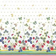 Vintage Berries Leaves Fruit Moth butterfly Wallpaper. Vertical Seamless pattern Stock Illustration