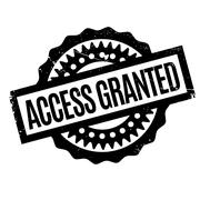 Access Granted rubber stamp Stock Illustration