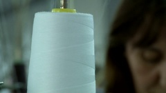 Sewing in the textile factory Stock Footage