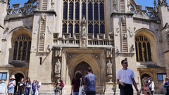 Bath Abbey Stock Footage