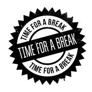 Time for a break stamp Stock Illustration