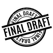 Final Draft rubber stamp Stock Illustration
