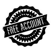 Free account stamp Stock Illustration