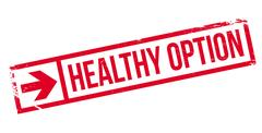 Healthy option stamp Stock Illustration
