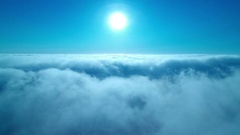Clouds Aerial Time Lapse shot of marine layer hovering at low altitude Stock Footage