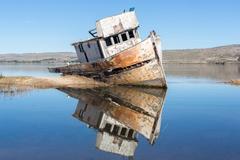 Shipwreck near Point Reyes National Seashore Stock Photos
