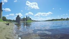Pskov Kremlin in summer Stock Footage