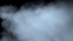 Passage through the fog/steam/smoke isolated on black with alpha channel. Stock Footage