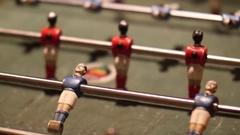 Football players rotating on the table of a sports club Stock Footage