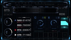 Futuristic HUD User interface Stock Footage