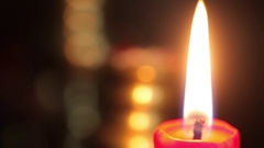 Burning candle detail Stock Footage