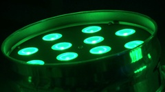 Disco light in club new, green, red, blue, close-up HD Stock Footage