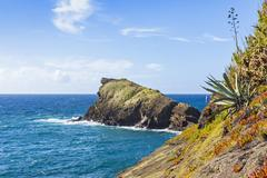 Atlantic Ocean coast on Sao Miguel island, Azores, Portugal Stock Photos