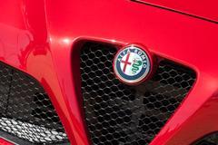 Alfa Romeo auto badge Stock Photos