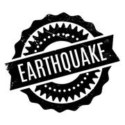 Earthquake rubber stamp Stock Illustration