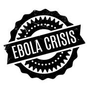 Ebola Crisis rubber stamp Stock Illustration