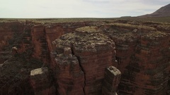 Grand Canyon Aerial Shot of Gorge and Rock Formation in Navojo Nation - Right Stock Footage