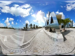 360vr American Airlines Arena backside entrance Stock Footage