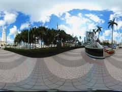 360vr Downtown Miami Port Miami 4k Stock Footage