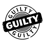 Guilty rubber stamp Stock Illustration