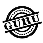 Guru rubber stamp Stock Illustration
