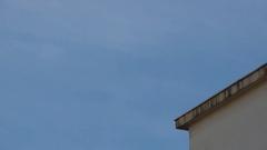 3 TV antennas on chimney Stock Footage
