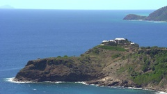 Luxury oceanfront apartment on the cliff - Caribbean, Antigua  Stock Footage