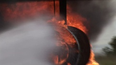 Aviation Fire Training Stock Footage