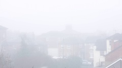 England in a deep white fog Stock Footage