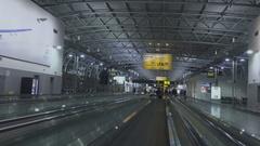 Brussels Airport, People, Moving Walkway Stock Footage