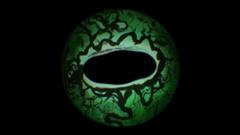 Closeup view of Lizard Eye Iris (Dark Green) Stock Footage