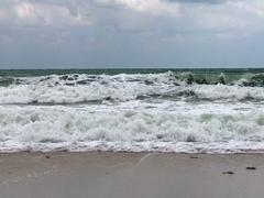 Ocean storm waves sea spray on the beach Arkistovideo