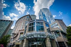 Prudential Center, in Back Bay, Boston, Massachusetts. Stock Photos