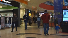 Vilnius Ozas schopping house centre internal view Stock Footage