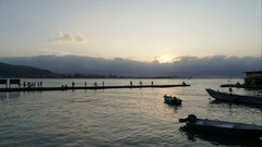 Sunset at the Tamsui river, time lapse Stock Footage