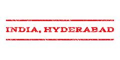 India Hyderabad Watermark Stamp Stock Illustration