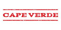 Cape Verde Watermark Stamp Stock Illustration
