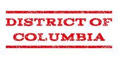 District Of Columbia Watermark Stamp Stock Illustration
