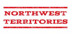 Northwest Territories Watermark Stamp Stock Illustration